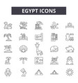 egypt line icons for web and mobile design vector image vector image