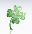 Four leaf clover as symbol of luck vector image vector image