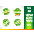 Fresh Food Badge vector image