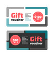 gift voucher or certificate design vector image vector image