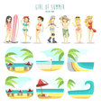 Girl of summer pack vector image vector image