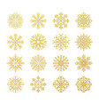 golden snowflakes christmas design templates vector image vector image