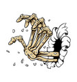 hand bones without skin out from the vector image