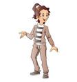 happy teen girl gesturing vector image vector image