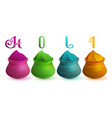 holi indian festival of colors clay pots with vector image vector image