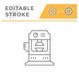 hydraulic press machine line icon vector image vector image