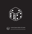 isolated number icon cube element can be vector image vector image