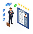 isometric employment and hiring concept vector image vector image