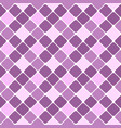 lavender geometrical diagonal square pattern vector image vector image