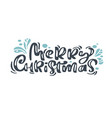 merry christmas vintage calligraphy lettering vector image vector image