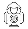 no hacker activity icon outline style vector image vector image
