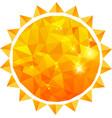 Polygonal sun background vector image vector image
