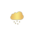 Rain Cloud computer symbol vector image vector image