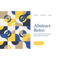 retro abstract geometric landing vector image vector image