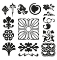 Retro ornaments collection vector image