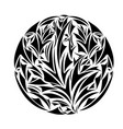 round ornamental frame vector image vector image