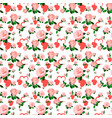 seamless roses pattern for valentines day vector image