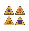 set signs with coronavirus vector image