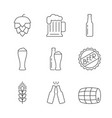 simple icons beer set vector image vector image