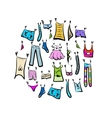 Sketch of clothes collection for your design vector | Price: 1 Credit (USD $1)