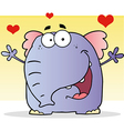 Smiling Elephant Cartoon Character vector image vector image