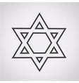 star david icon vector image