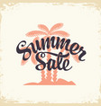 summer sale decorative lettering and palm trees vector image