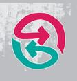 symbol bidirectional arrows hand drawn vector image vector image