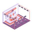 tv studio isometric concept vector image