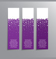 vertical winter banner holidays new year banner vector image