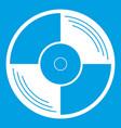 vinyl record icon white vector image