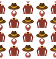 wild west cowboy cloth rodeo equipment different vector image vector image