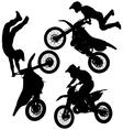 Motocross Jump Silhouette vector image