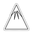 mountain landscape isolated icon vector image