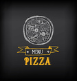 Pizza menu restaurant badges Food design template vector image