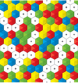 plastic mosaic seamless background vector image