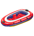 Rubber boat vector image