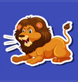 a male lion character vector image vector image