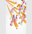 abstract decorative still life with fruits the vector image vector image