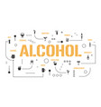 alcohol word concepts banner different types of vector image vector image