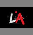 alphabet letter combination la l a with grunge vector image vector image