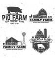 american farm badge or label vector image vector image