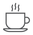 americano line icon coffee and cafe hot vector image vector image