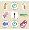 Arrows web icons set Hand drawn and isolated