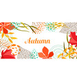 background with falling leaves vector image vector image
