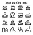 basic building icon set vector image vector image