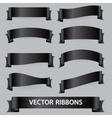 black funeral various ribbon banners set eps10 vector image vector image