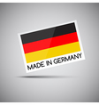 card Made in Germany with German flag vector image