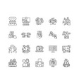 chat line icons signs set outline vector image