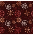 Christmas seamless pattern Light snowflake signs vector image